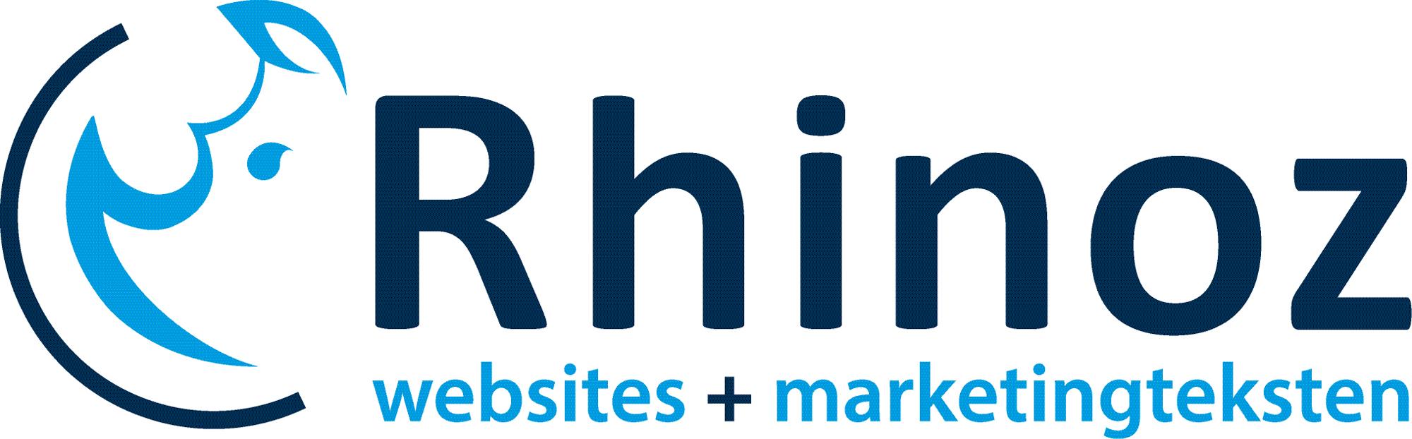 Rhinoz websites + marketingteksten